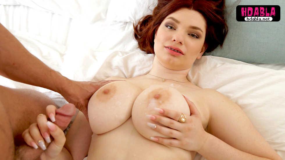 Seks uygulamasından tanıştığı doğal göğüslü kızılın evine gitti
