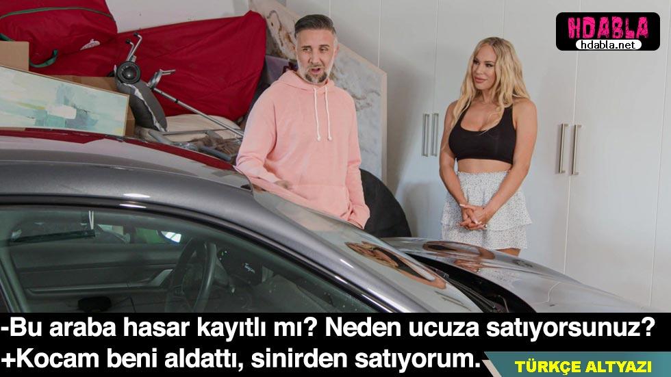 Aldatıldığını öğrenen kadın kocasının arabasını satıp siktiriyor
