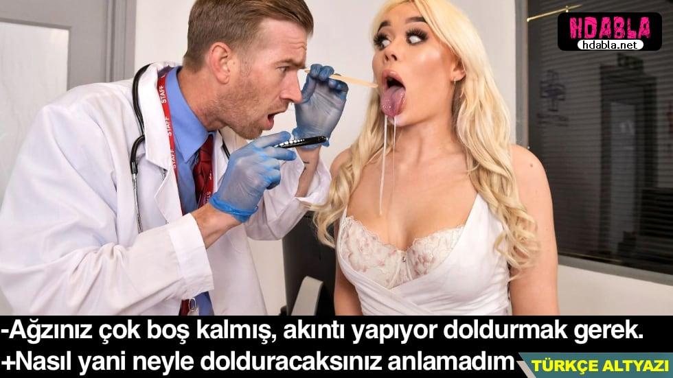 Doktor sürekli ağzının suyu akan kadını Ağzına vererek tedavi etti